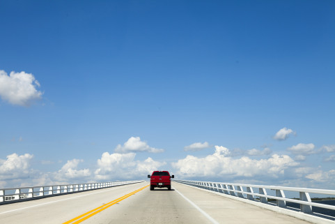 Sanibel Causeway , Florida. July 2014