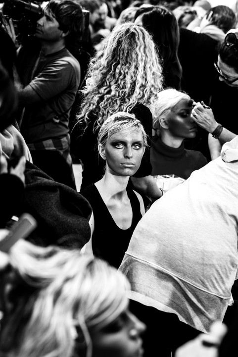 Backstage at Viktor & Ralf show, Paris 2011
