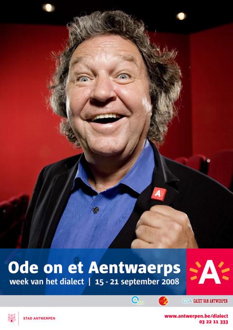 Week van het dialect, Ruud De Ridder, Antwerpen. 2008