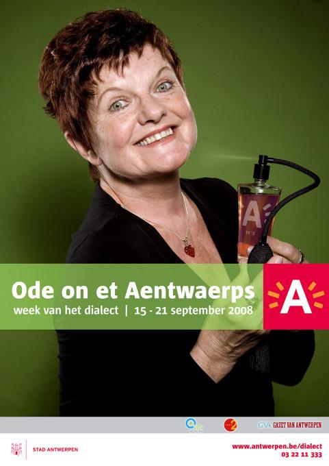 Week van het dialect, Janine Bisschops, Antwerpen. 2008