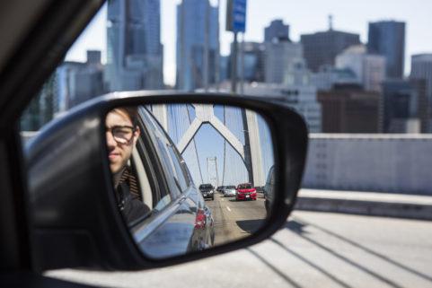 Crossing the Oakland-San Francisco Bridge. California. July 2017