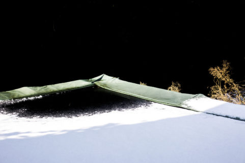 Snow on Trampoline